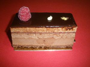 Lingote de chocolate y fambruesa